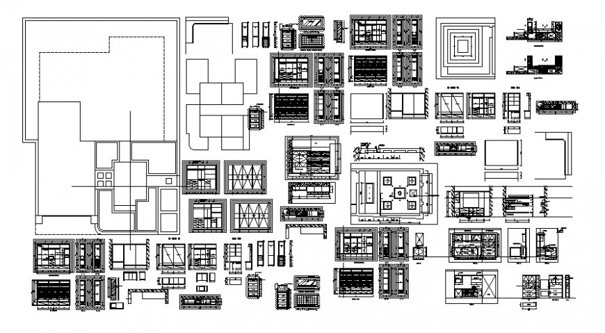 2 d cad drawing of wood furniture Auto Cad software