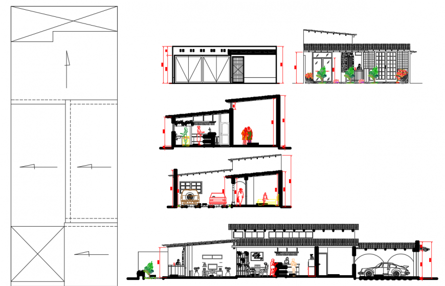 2 d cad drawing of workstation plan Auto Cad software