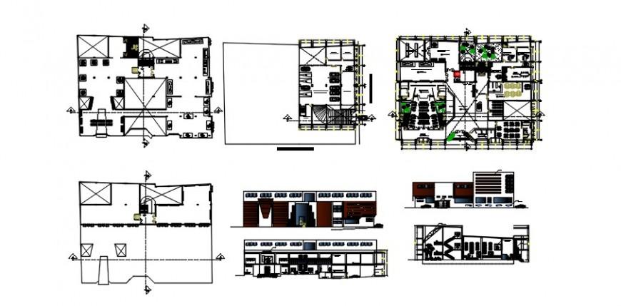 2 d cad drawing plan elevation design Auto Cad software