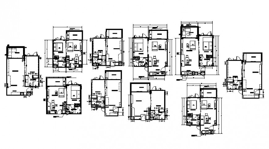 2 d cad drawing with floor plan furniture part Auto Cad software