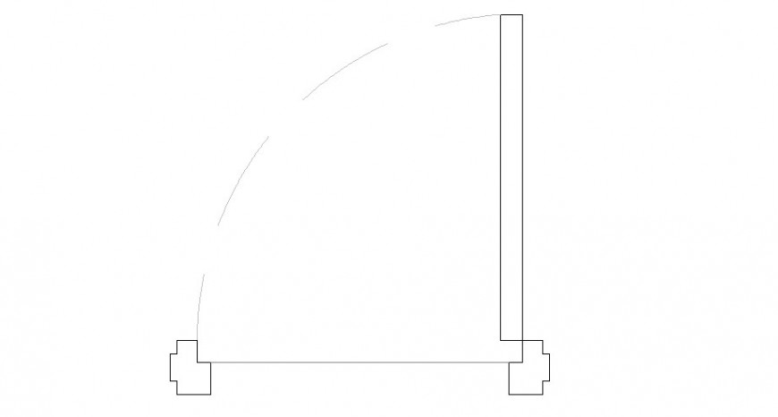 2 feat 3 inch door elevation block cad drawing details dwg file