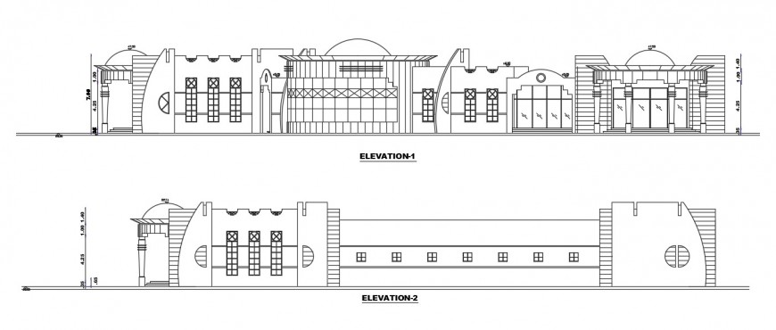 2 Stories club house cad file