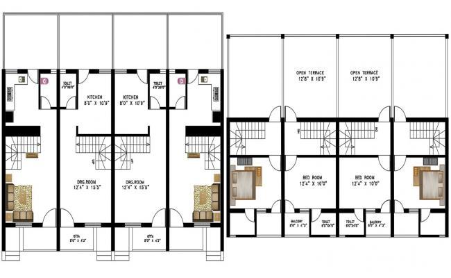 2bhk Plan CAD File