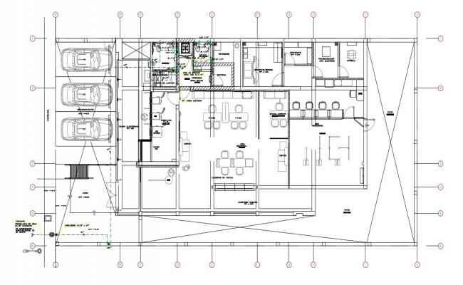 2d CAD Drawing Of Bank Furniture Layout Plan AutoCAD File
