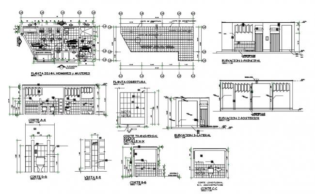 2d cad drawing of College campus  in autocad