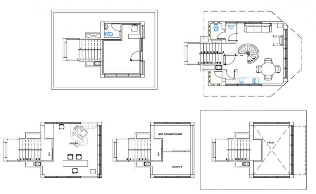 2d cad drawing of airport control tower design in dwg file