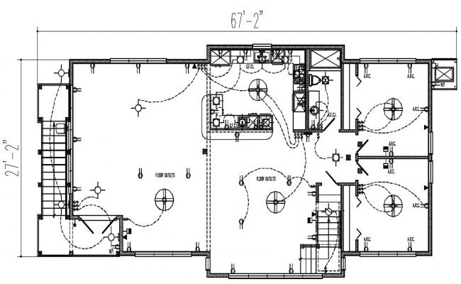 Trade electrical layout plan in DWG file