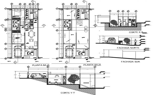 2d cad-house layout plan in dwg file