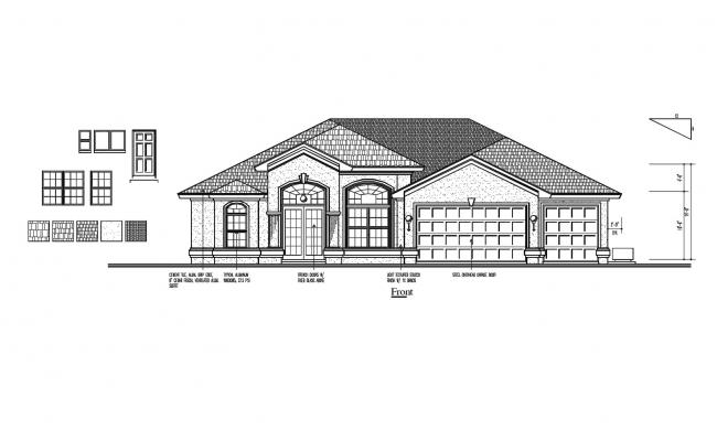 House 2d Design In AutoCAD File