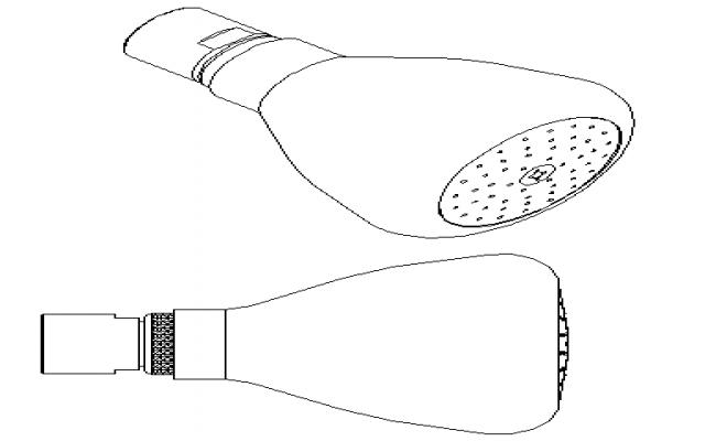 2d design of sprinklers watering dwg file