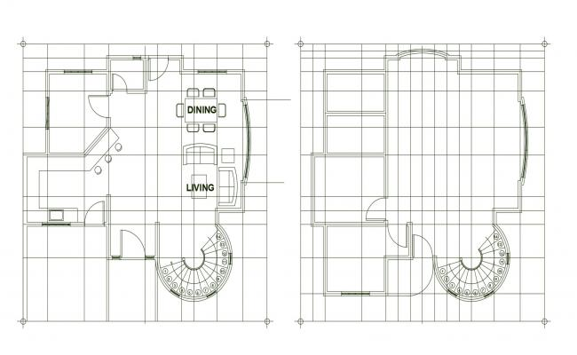 2d drawing of the residential house in dwg file
