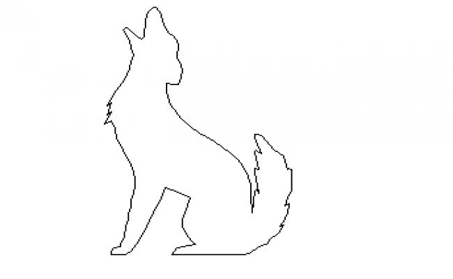 2d elevation of dog