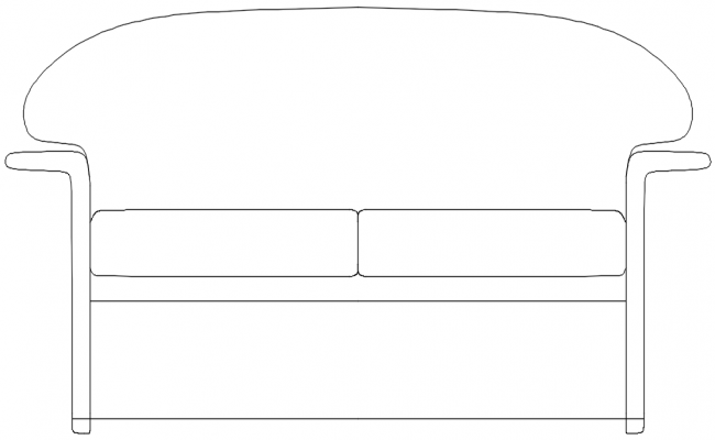 Front Elevation Of Sofa : D elevation of sofa dwg file