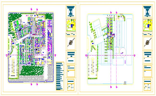 Landscaping plan of Hospital design