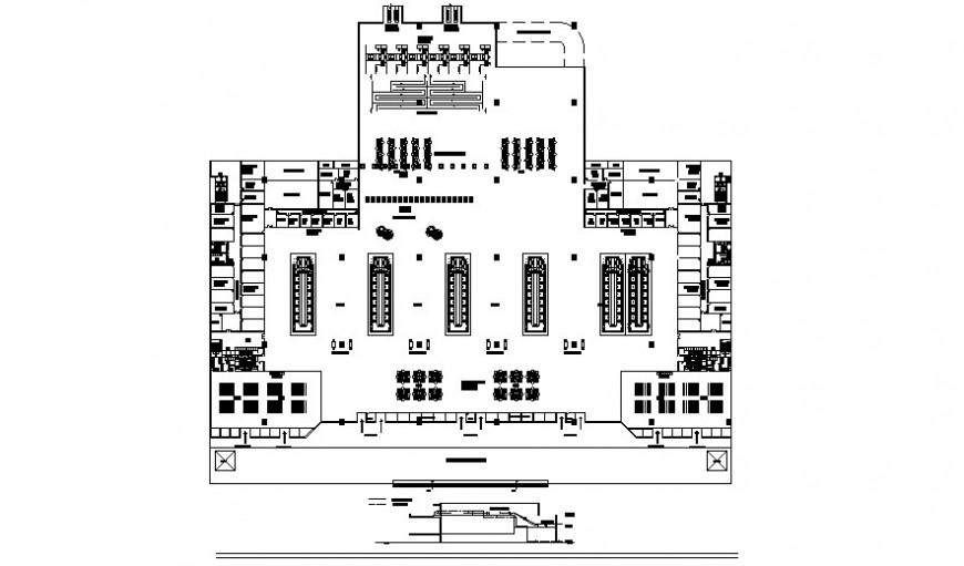 2D airport plan design autocad file