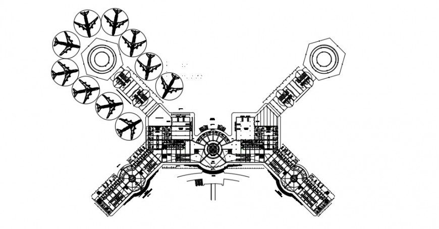2d Airport project detail autocad file