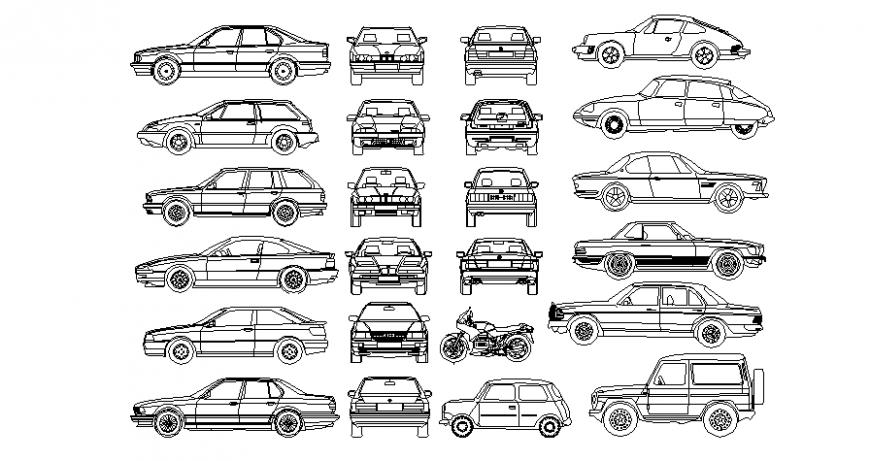 2d blocks detail of car dwg file