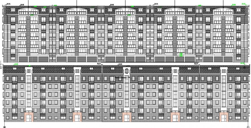2d CAD elevation drawings of apartment flat dwg autocad software file