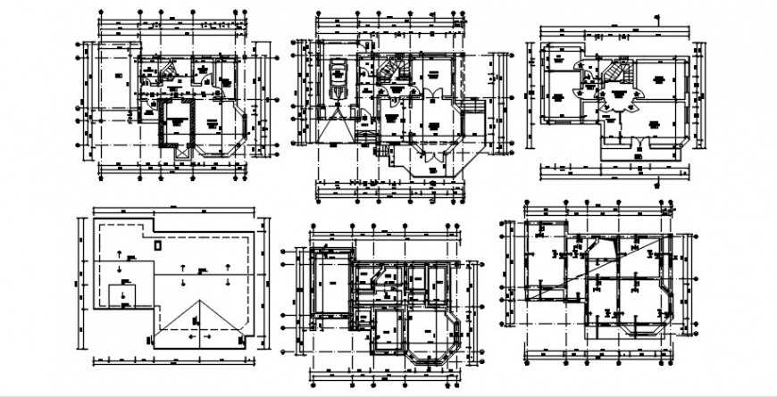 2d CAD floor layout plan details of residential house autocad file