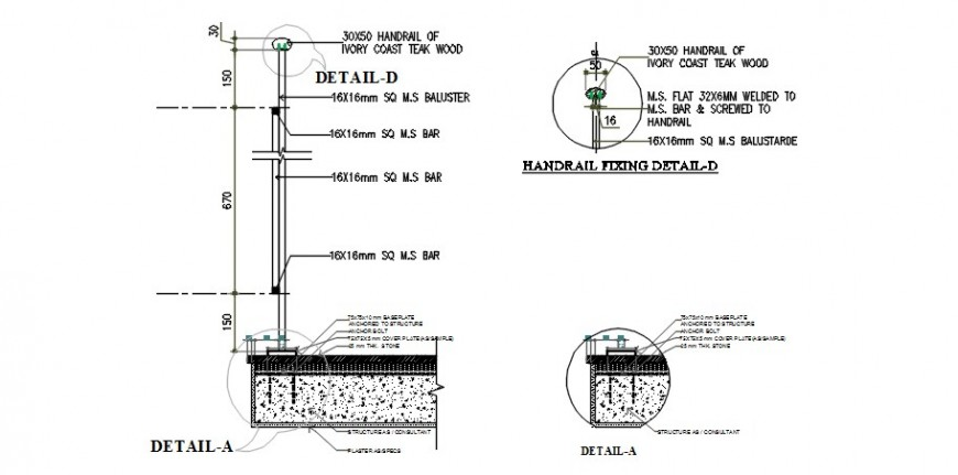 2d CAD sectional drawings of concrete masonry units dwg file