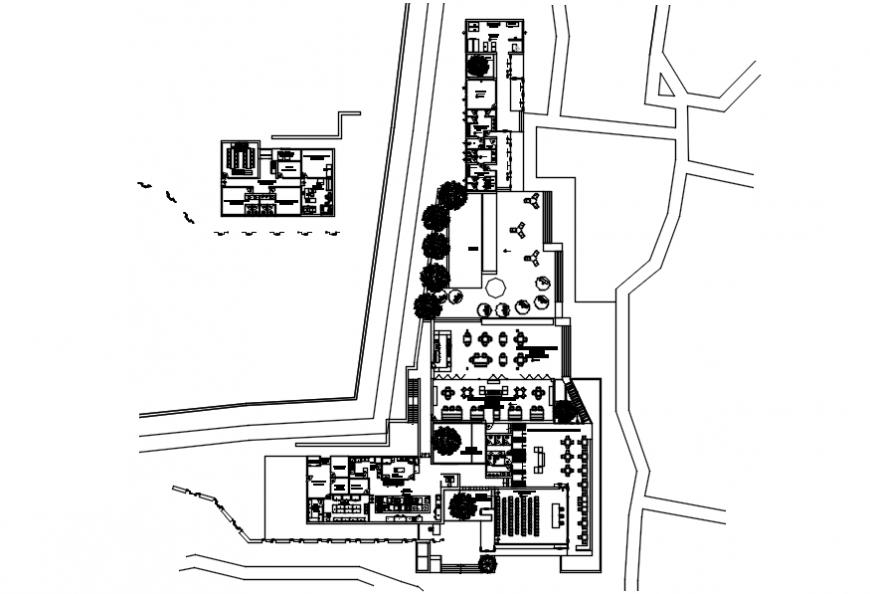 2d cad drawing of 1000 islands resorts AutoCad software