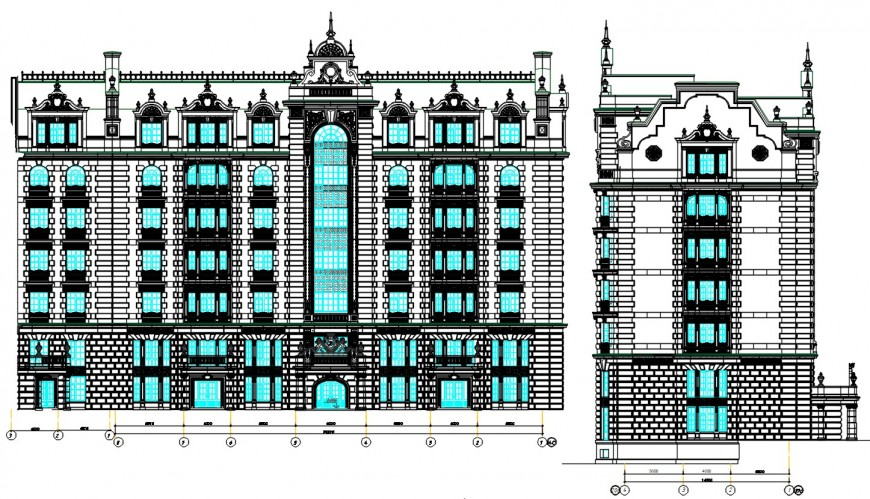 2d cad drawing of 5 star hotel project