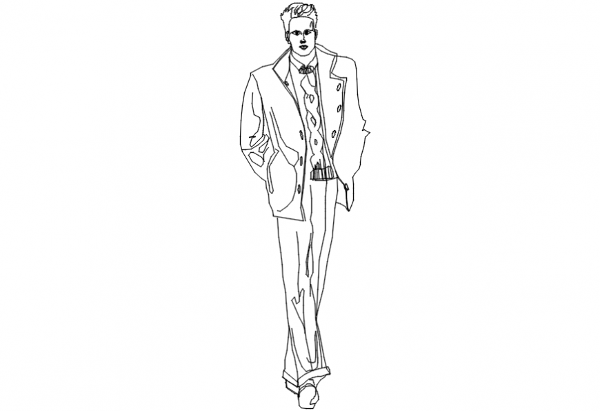 2d cad drawing of a fashion designer Autocad software.