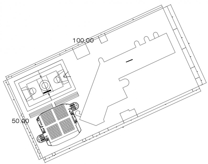 2d cad drawing of administrative office autocad software