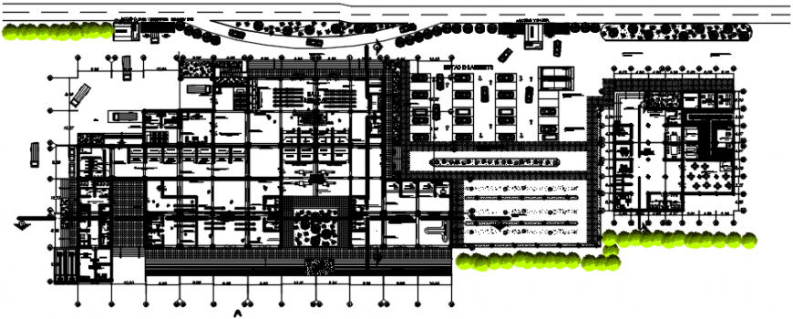 2d cad drawing of airport plan