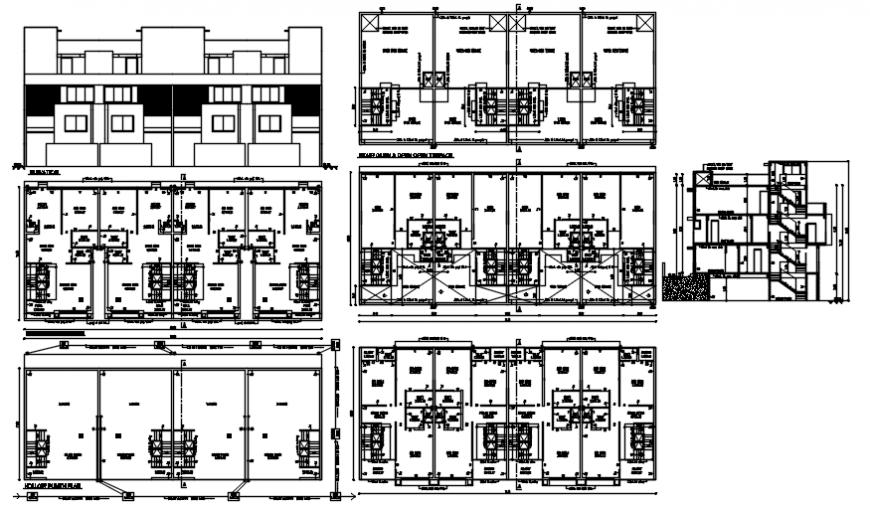 2D cad drawing of apartment auto cad software