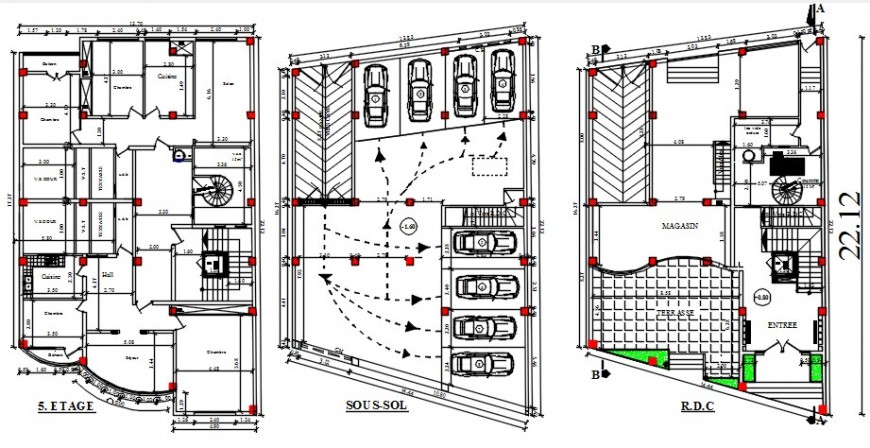 2d cad drawing of apartment commercial autocad software