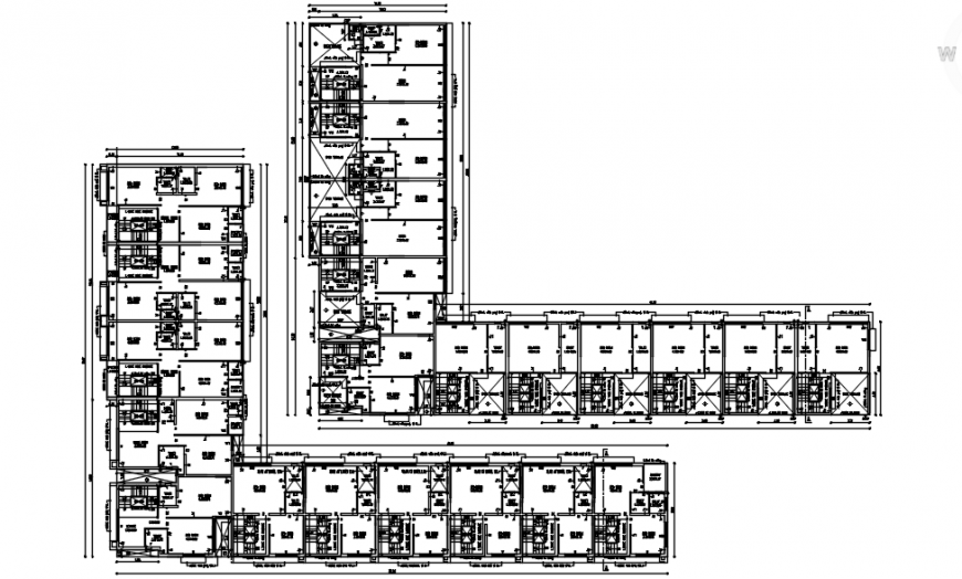2D cad drawing of apartment layout plan Auto CAD software