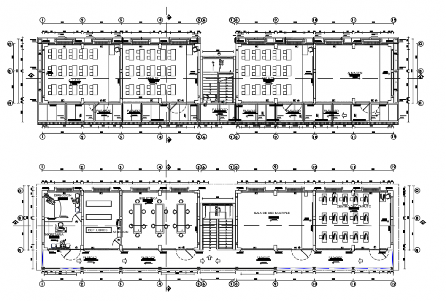 2d cad drawing of architectural infrastructure autocad software