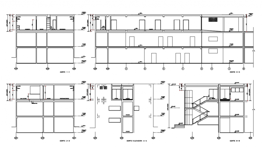 2d cad drawing of architecture elevation auto cad software