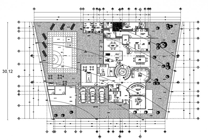 2d cad drawing of architecture final autocad software