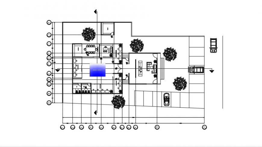 2d cad drawing of Architecture workshop auto cad software