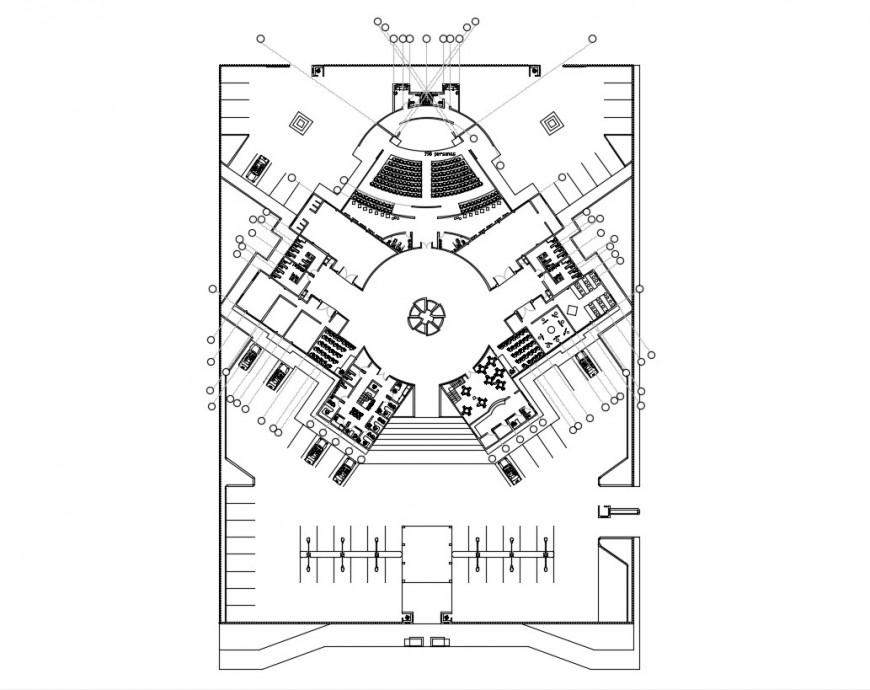 2d cad drawing of art school elevation autocad software