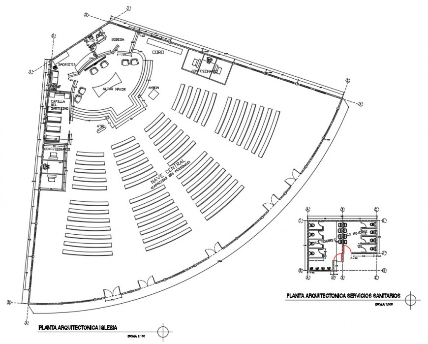 2d cad drawing of auditorium cad file