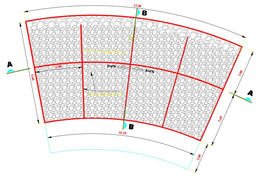 2d cad drawing of baden road autocad software