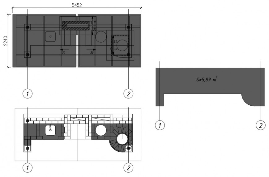 2d cad drawing of barbeque elevation autocad software