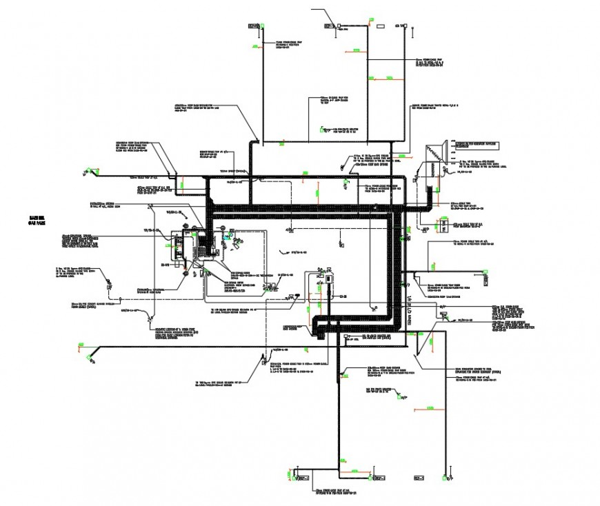 2d cad drawing of basement power layout autocad software