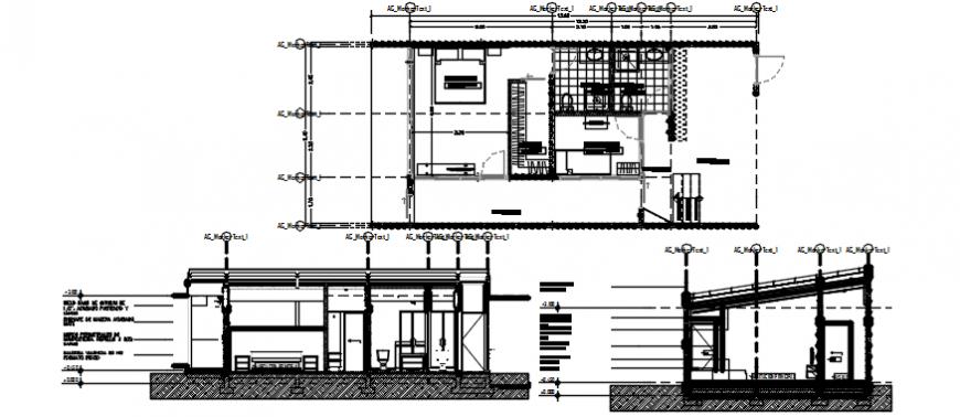 2d Cad drawing of Bedrooms design