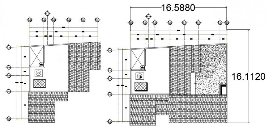 2d cad drawing of cabana elevation autocad software
