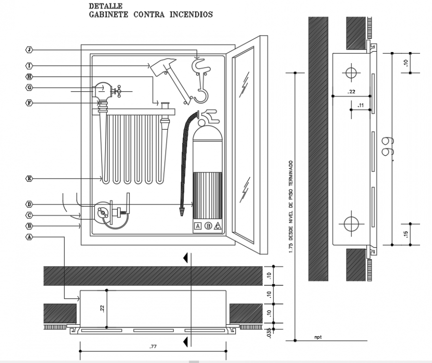 2d cad drawing of cabinet elevation auto cad software