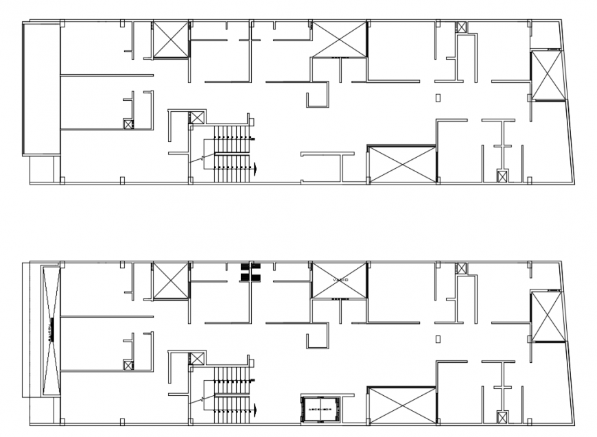 2d cad drawing of clinic 2-floor autocad software