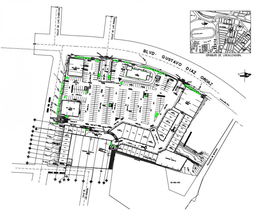 2d cad drawing of commercial centre autocad software