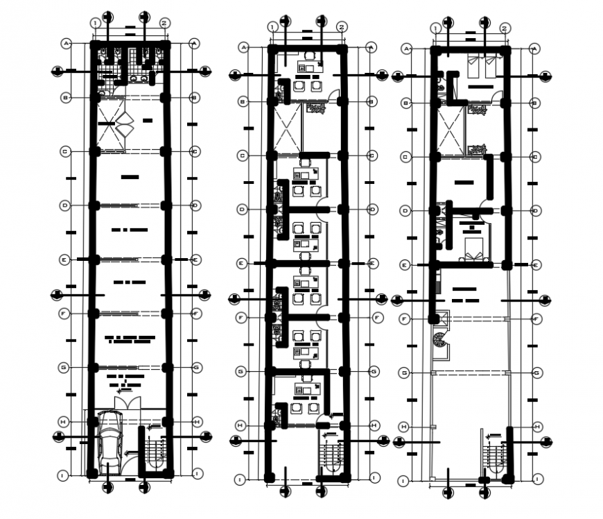 2d cad drawing of computer hall auto cad software