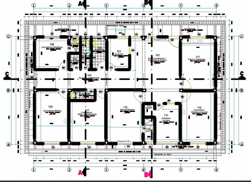 2d cad drawing of consultant plan autocad software