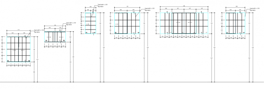2d cad drawing of distance window autocad software