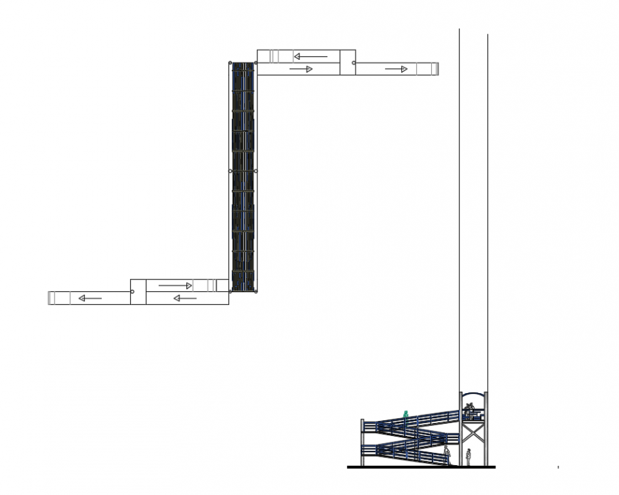 2d cad drawing of door level panel autocad software